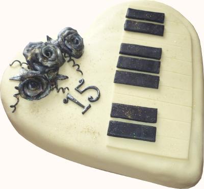 klavír srdce
