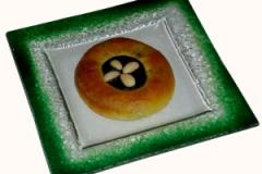 povidlový zdobný koláč